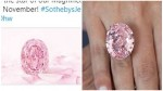 Rare Purple Pink Diamond Spirit Of The Rose Up For Auction