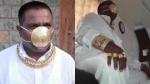 മാസ്കിനും ആഡംബരം ഒട്ടും കുറയ്ക്കേണ്ട, 3 ലക്ഷം രൂപയുടെ സ്വർണ മാസ്കുമായി യുവാവ്