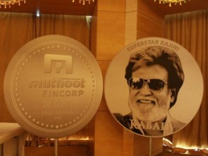 Kabali Silver Coins Launched Muthoot Fin Corp