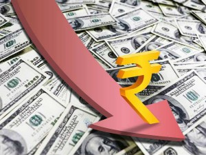 Sharp Drop In Rupee